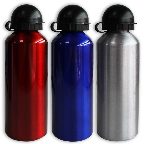Botella aluminio 500ml 21x6,5cm colores stds