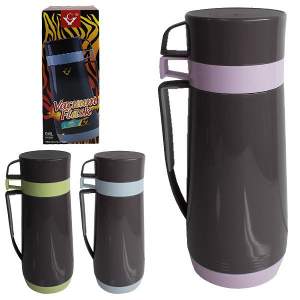 Termo 600ml doble taza 10x16,5cm colores stds