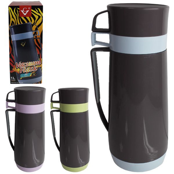 Termo 1000ml doble taza 11,5x30cm colores stds