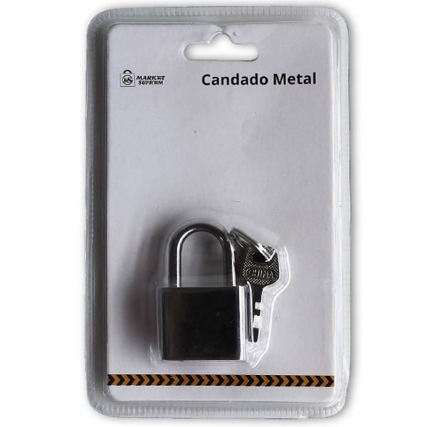 CANDADO METAL 30X13MM CON 3 LLAVES