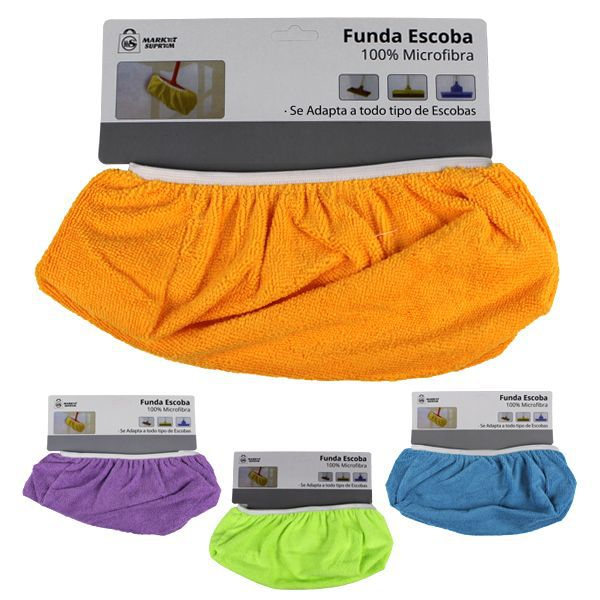 FUNDA ESCOBA MICROFIBRA COLORES STDS 11X31CM