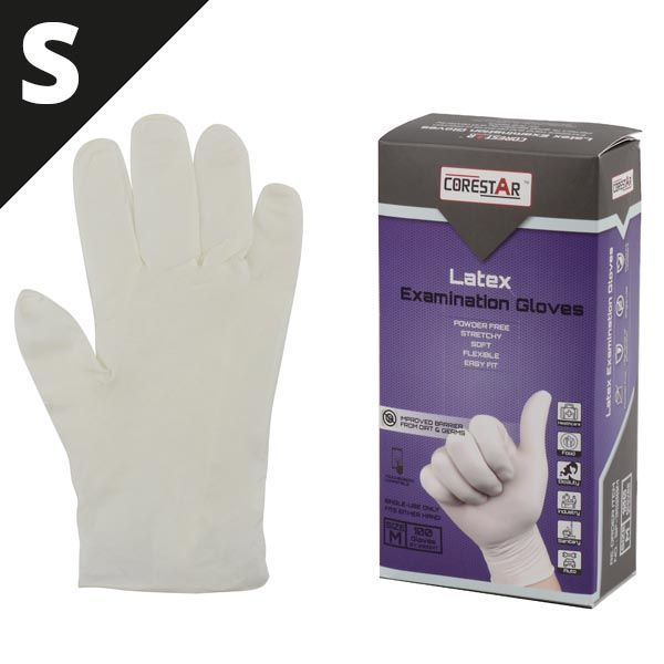 GUANTES LATEX 100UDS DESECHABLES TALLA S