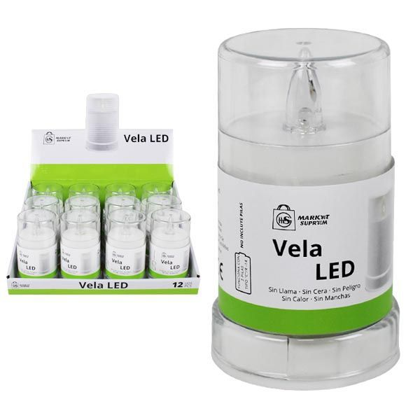 VELON LED BLANCO 6,5X10,8CM NO INCLUYE PILAS R14