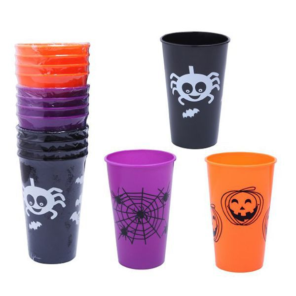VASO HALLOWEEN 14X9CM COLORES STDS