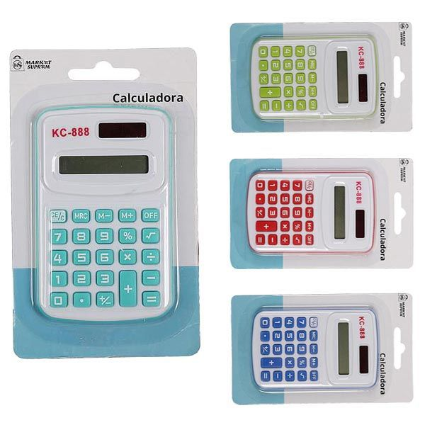 CALCULADORA 8 DIGITOS COLORES 10X7CM