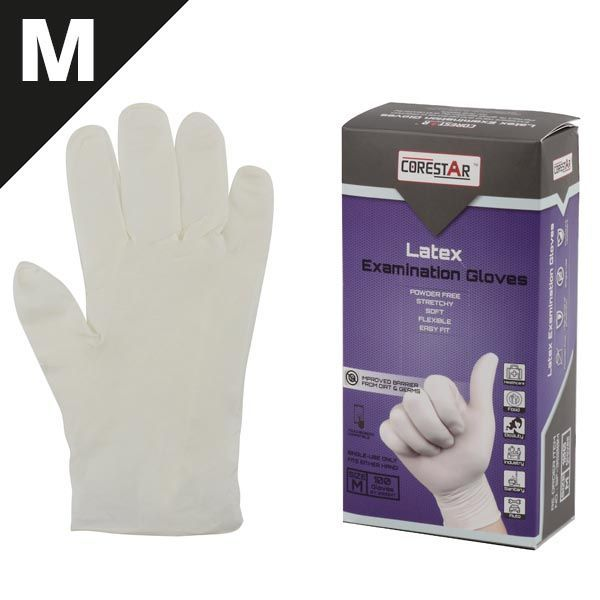 GUANTES LATEX 100UDS DESECHABLES TALLA M