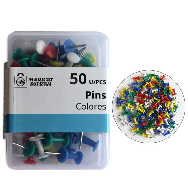 CHINCHETA PINS 50 UDS COLORES STDS