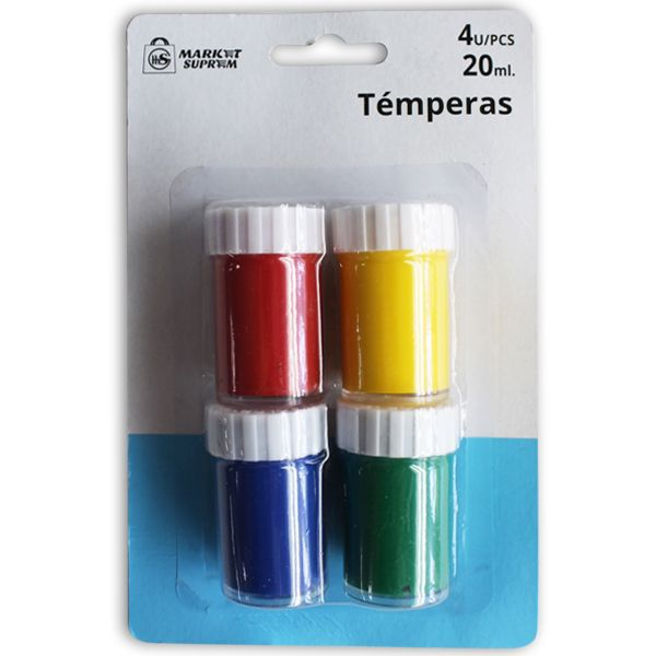 TEMPERAS 4 COLORES 20ML