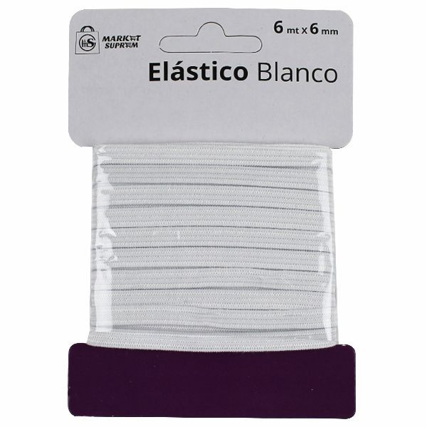 ELASTICO BLANCO 6MX6MM
