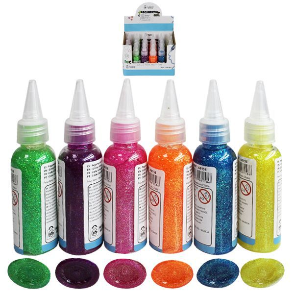 PEGAMENTO PURPURINA COLORES FLUOR STDS 40ML