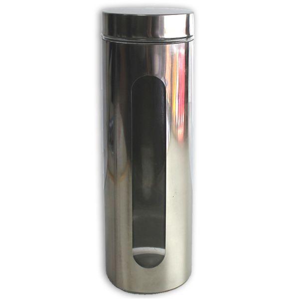 Recipiente hermetico cristal y acero 10x30 5cm 1750ml en for Recipiente hermetico
