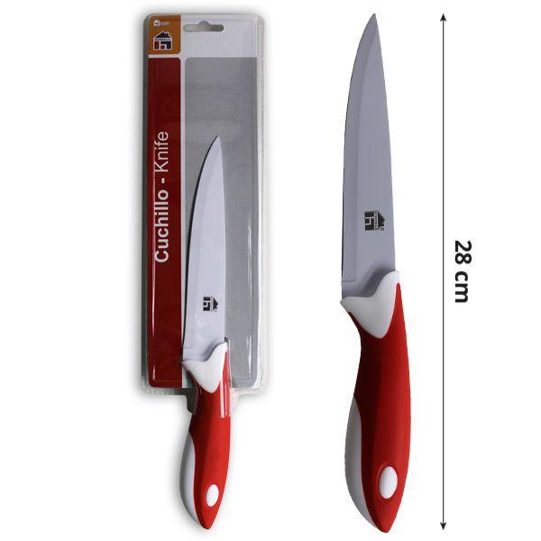 Cuchillo cocina blanco y rojo 28cm en importacion ms - Cuchillos y menaje ...