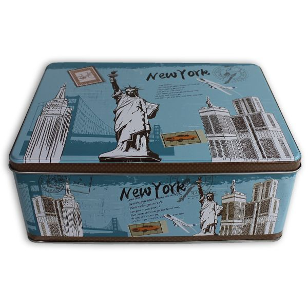Caja metal 22x16x9cm new york